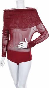 Czerwona bluzka Misspap z długim rękawem