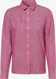 Różowa koszula Gant w stylu casual z lnu