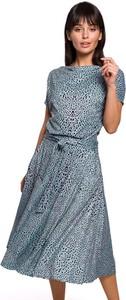 Niebieska sukienka BeWear w stylu casual
