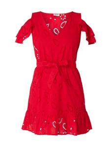 Sukienka Liu-Jo Jeans trapezowa z bawełny z krótkim rękawem