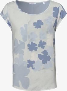 Niebieska bluzka Opus z krótkim rękawem z okrągłym dekoltem