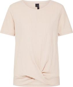 Bluzka Vero Moda w stylu casual z dżerseju z okrągłym dekoltem