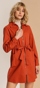 Pomarańczowy płaszcz Renee