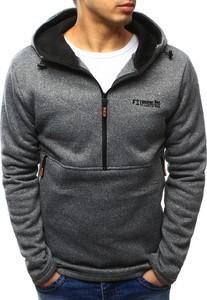 Dstreet bluza męska z kapturem szara (bx3430)