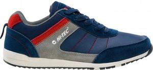 Niebieskie buty sportowe Hi-Tec sznurowane ze skóry