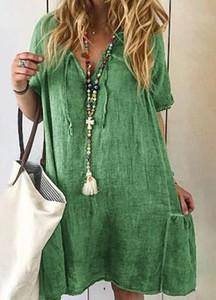 Zielona sukienka Cikelly w stylu casual