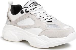 Buty sportowe Big Star sznurowane ze skóry ekologicznej na platformie