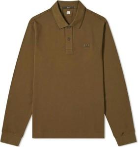 Brązowa koszulka polo C.P. Company w stylu casual z długim rękawem