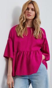Różowa bluzka Reserved z okrągłym dekoltem