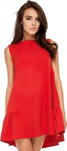 Czerwona sukienka Ooh la la bez rękawów