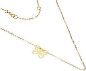 Lovrin Złoty naszyjnik 333 ażurowy motyl łańcuszek 0,73 g