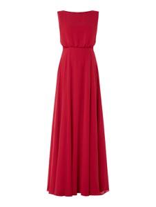 Czerwona sukienka Christian Berg Cocktail z szyfonu maxi bez rękawów