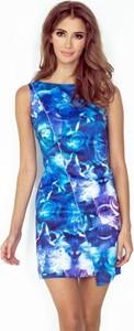 Niebieska sukienka MORIMIA mini bez rękawów