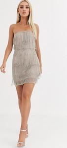 Sukienka Asos Design mini w stylu boho