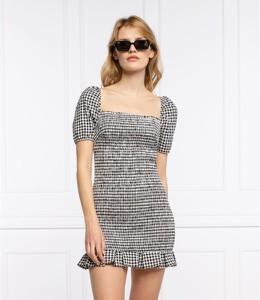 Sukienka Guess z krótkim rękawem z okrągłym dekoltem