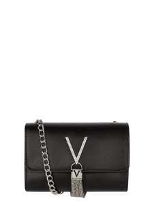 Czarna torebka Valentino by Mario Valentino w stylu glamour ze skóry