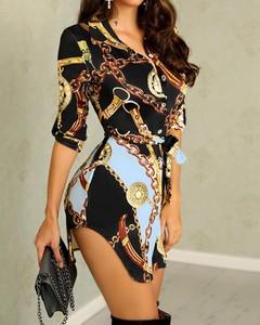 Sukienka Kendallme koszulowa w stylu casual z długim rękawem