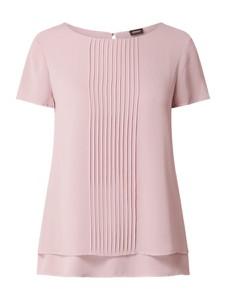 Różowa bluzka S.Oliver Black Label z okrągłym dekoltem w stylu casual