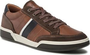 Brązowe buty sportowe Imac z zamszu sznurowane