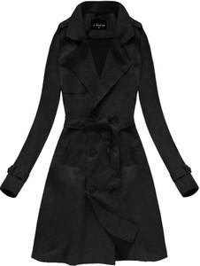Płaszcz Libland ze skóry ekologicznej w stylu casual