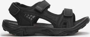 Czarne buty dziecięce letnie born2be na rzepy