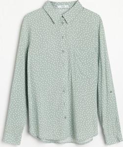 Zielona koszula Reserved w stylu casual z długim rękawem