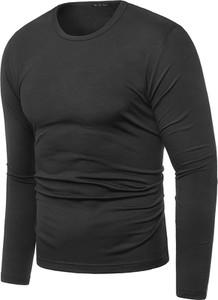 Czarna koszulka z długim rękawem risardi w stylu casual