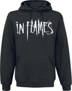 Czarna bluza In Flames z bawełny