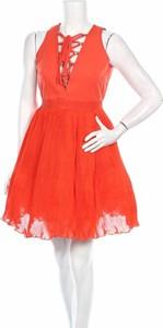Czerwona sukienka Manoush rozkloszowana mini bez rękawów
