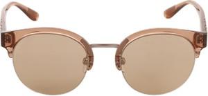 Beżowe okulary damskie burberry
