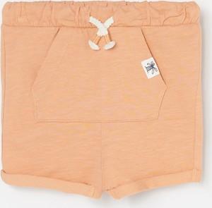 Pomarańczowe spodenki dziecięce Reserved z bawełny