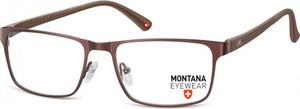 Stylion Oprawki prostokątne optyczne Montana MM610B brązowe