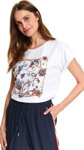 T-shirt Top Secret z okrągłym dekoltem w stylu casual z krótkim rękawem