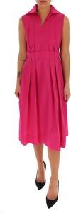 Różowa sukienka Marni midi bez rękawów