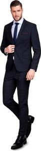 Czarny garnitur giacomo conti z tkaniny