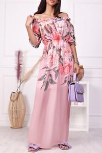 Sukienka IVET maxi hiszpanka z długim rękawem
