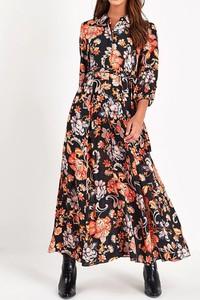 Sukienka Sandbella z długim rękawem w stylu boho