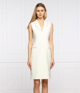 Sukienka Hugo Boss bez rękawów z dekoltem w kształcie litery v