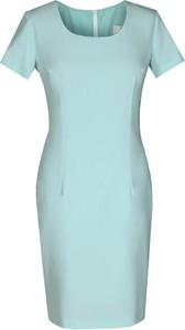 Sukienka Fokus midi z krótkim rękawem dopasowana