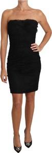 Czarna sukienka Dolce & Gabbana bodycon mini z jedwabiu