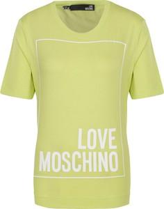Zielony t-shirt Love Moschino z krótkim rękawem
