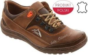 Brązowe buty trekkingowe butyolivier.pl