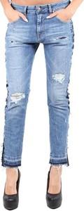 Niebieskie jeansy Sexy Woman w stylu casual z jeansu