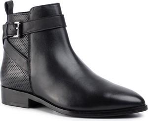 Czarne botki Sergio Bardi w stylu casual na zamek z płaską podeszwą