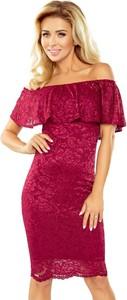 Czerwona sukienka MORIMIA z krótkim rękawem hiszpanka