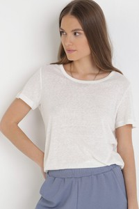T-shirt born2be z krótkim rękawem w stylu casual z okrągłym dekoltem