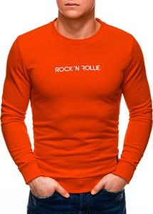 Pomarańczowa bluza Edoti z bawełny