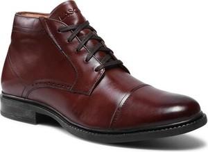 Buty zimowe Lasocki ze skóry sznurowane