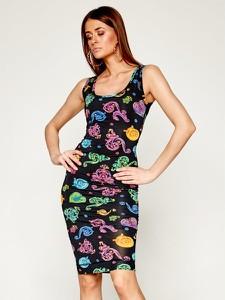 Sukienka Versace Jeans na ramiączkach dopasowana z okrągłym dekoltem