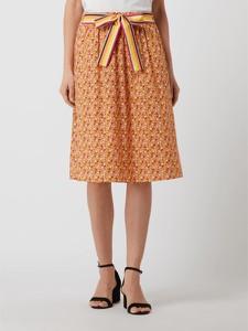Pomarańczowa spódnica Taifun z bawełny